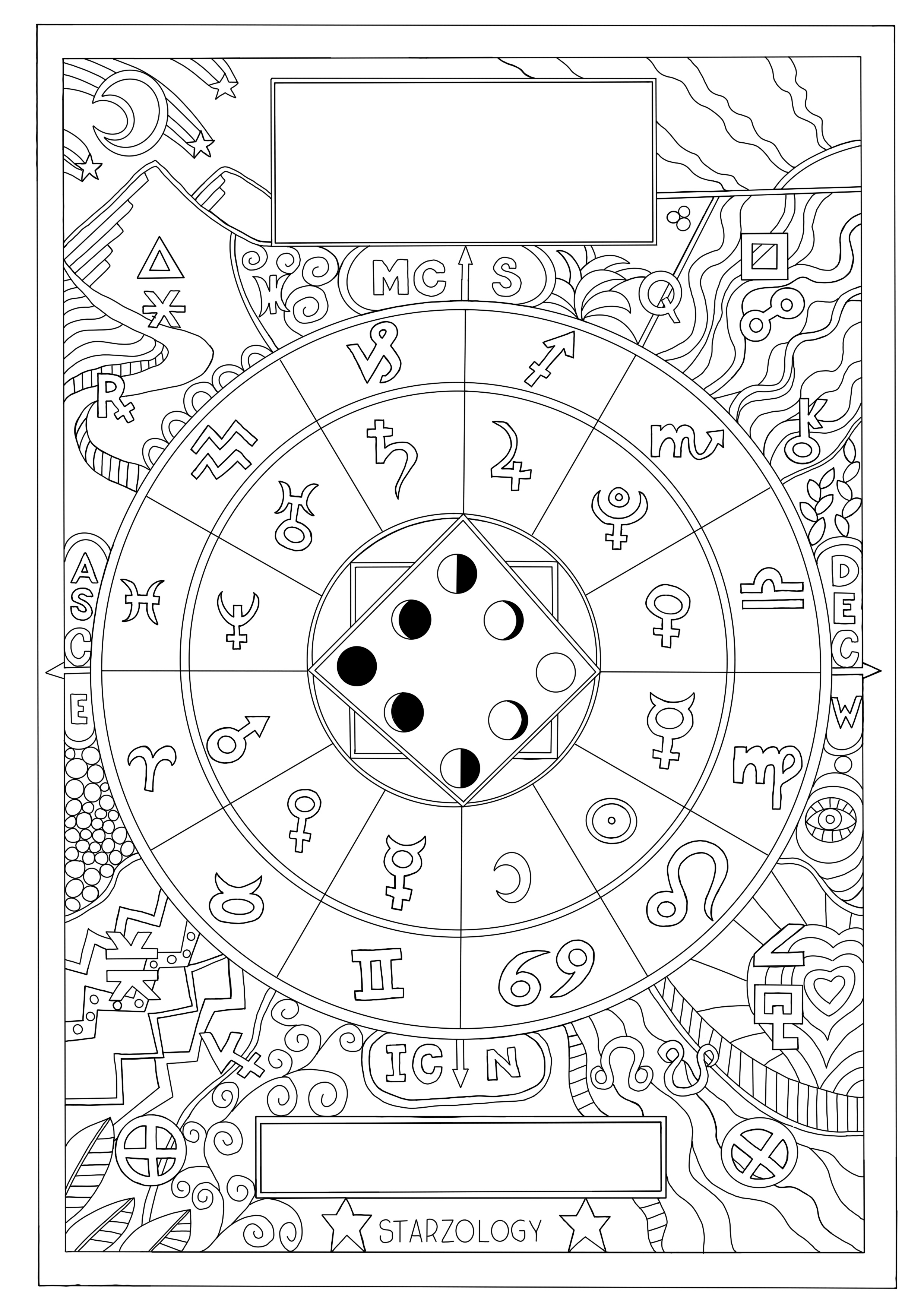 Astrology Art – Colouring-In for Grown Ups